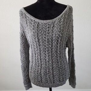 B2G1 American Eagle Gray Woven Knit Sweater